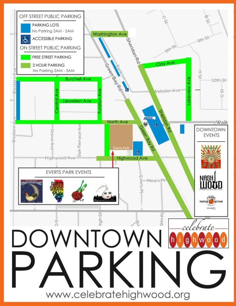Celebrate Highwood PARKING MAP 2018