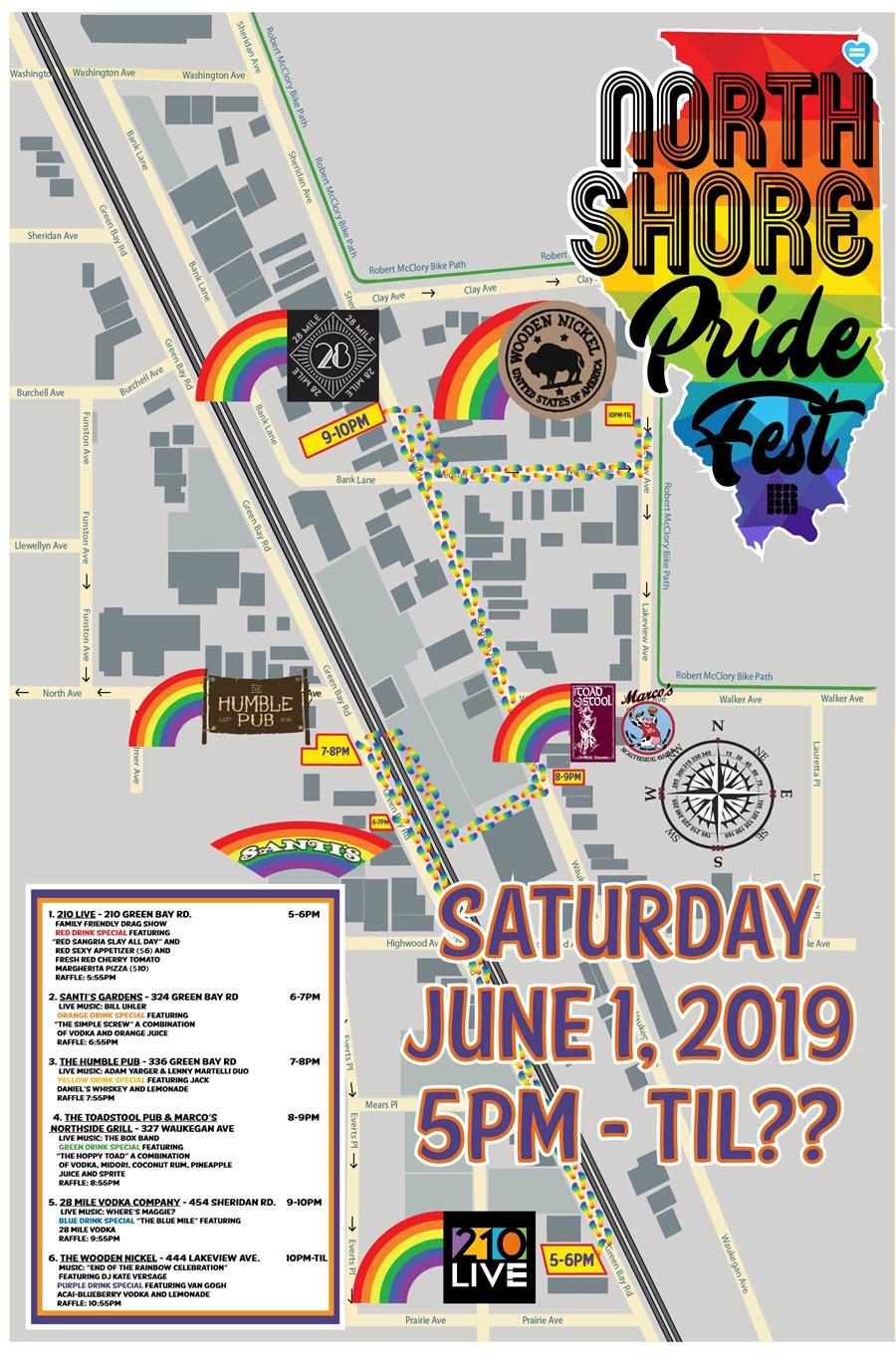 Pridefest 2019 map